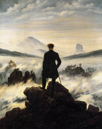 """Viajero frente a un mar de nubes"", Caspar David Friedrich"