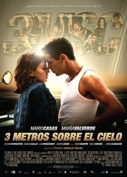 Cartel de la película de 2010 Tres metros sobre el cielo