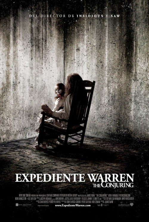 Cartel de la película de 2013 Expediente Warren
