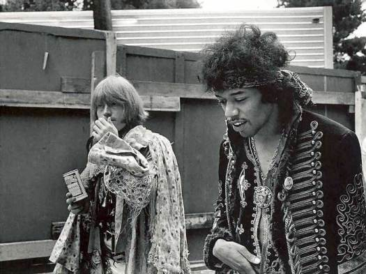 Brian Jones y Jimi Hendrix