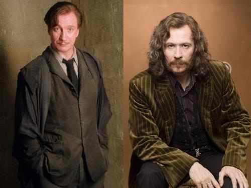 David Thewlis y Gary Oldman en sus papeles de Remus Lupin y Sirius Black, en las películas de la Warner