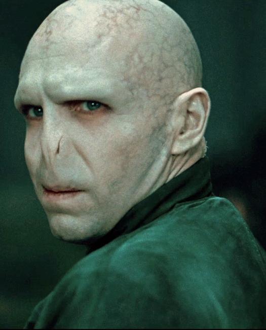 Ralph Fiennes en su papel de Lord Voldemort, el antagonista de la saga Harry Potter