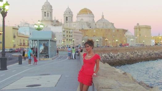 Malecón de Cádiz, agosto de 2013