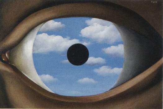 """El espejo falso"", René Magritte"