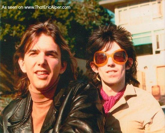 Gram Parsons junto a Keith Richards, de los Rolling Stones
