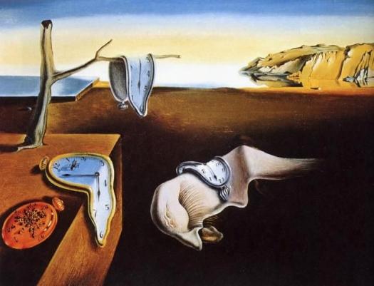 """""""La persistencia de la memoria"""" o """"Los relojes, Salvador Dalí"""
