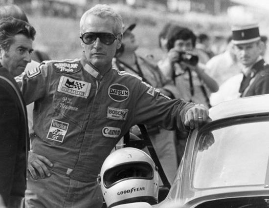 Paul Newman compitiendo