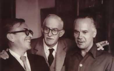 Emilio Prados, José Moreno Villa y Luis Cernuda en la década de los 50