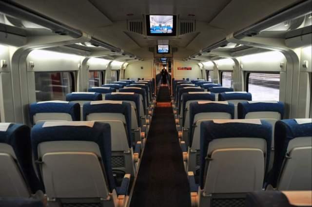 Interior de un tren de Renfe
