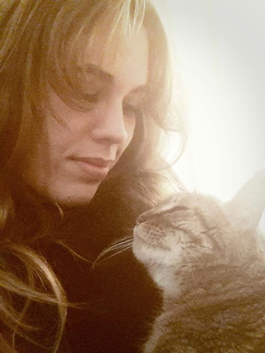 Con Luna. Diciembre de 2013