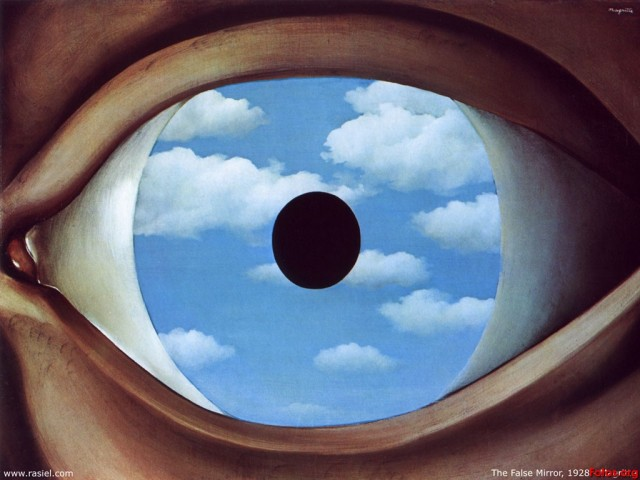 """Espejo falso"", René Magritte"