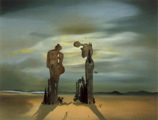 """Una de las numerosas versiones de Dalí de """"El Ángelus"""" de Millet"""