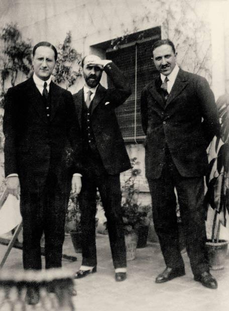 Jorge Guillén, Juan Ramón Jiménez y Pedro Salinas en 1924