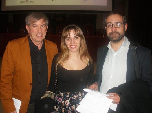 Con el escritor Miguel Losada, presentador del evento, y el periodista Miguel Pato, que realizó lecturas de la obra