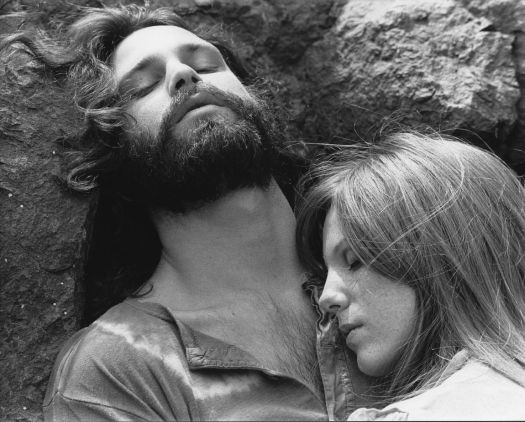 Jim Morrison y Pamela Courson en 1970