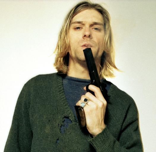Kurt Cobain en 1994. Fotografía de Youri Lenquette