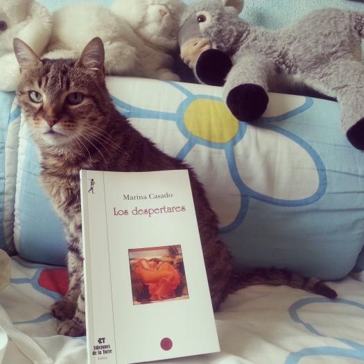 La insigne gata Luna presentando mi primer poemario