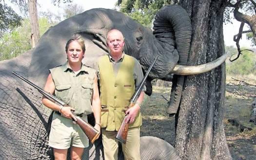 Juan Carlos I de caza en África