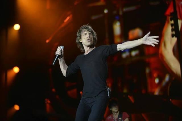 Mick Jagger durante el concierto