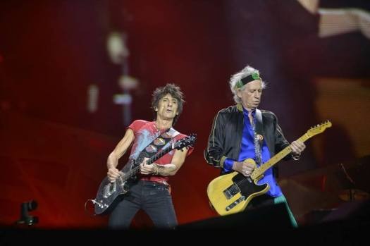Ronnie Wood y Keith Richards durante el concierto