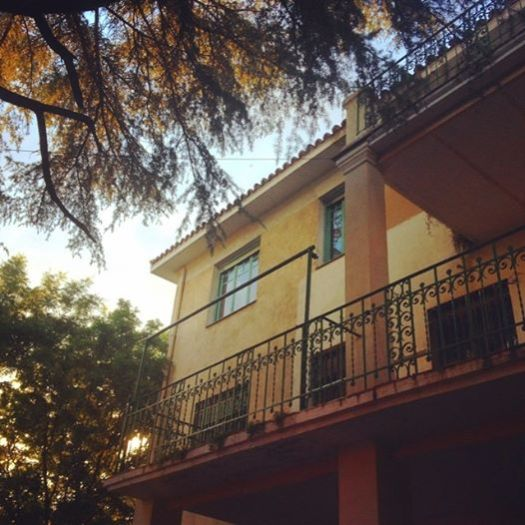 Casa de Vicente Aleixandre contemplada desde el jardín