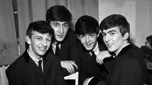 The Beatles en sus inicios. De izquierda a derecha: Ringo Starr, John Lennon, Paul McCartney y George Harrison