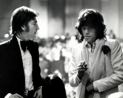 John Lennon y Mick Jagger en los sesenta