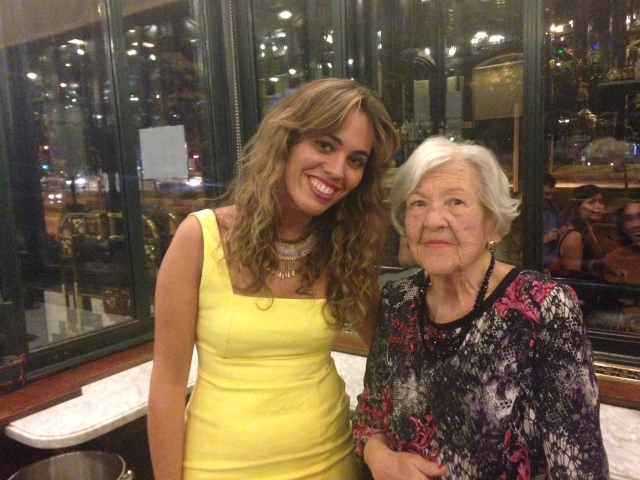 Al finalizar el acto, Marina Casado y Leonor Machado