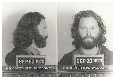 Jim Morrison, detenido en 1970