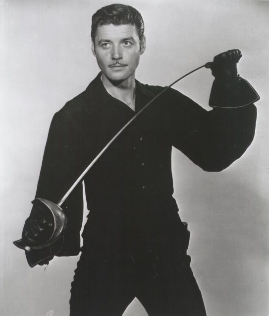 Guy Williams en su papel del Zorro