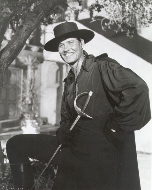 Guy Williams en su papel del Zorro