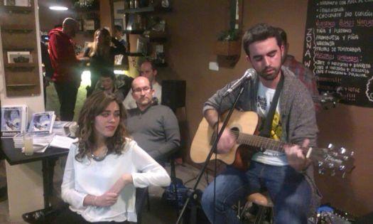 Marina Casado y Juan Casado. De fondo, Emilio Blanco y  Juan Manuel Corral