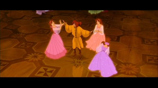 Anastasia y sus hermanas en la película de Bluth y Goldman