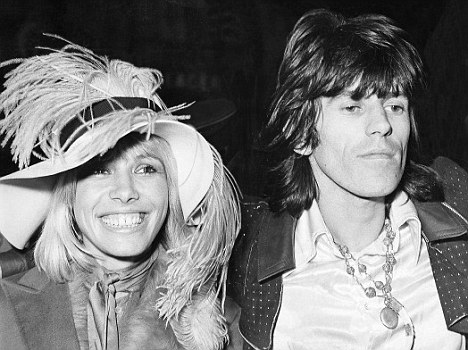 Anita Pallenberg y Keith Richards