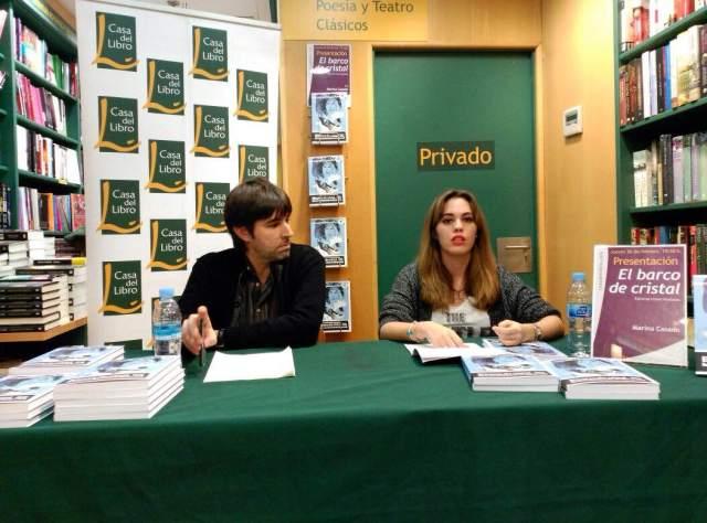 David Conte y Marina Casado en la presentación de El barco de cristal en Casa del Libro