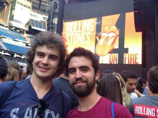 Juan y Julio, de The Vagus Group, en el concierto de The Rolling Stones en Madrid, junio de 2014