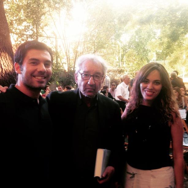 Con Fernando Antequera y el actor José Sacristán
