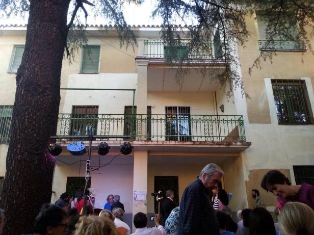 Acto poético en la casa de Vicente Aleixandre. Foto de Fernando Antequera