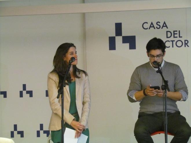 Conchy Gutiérrez y Eric Sanabria recitando por Gloria Fuertes y Félix Grande
