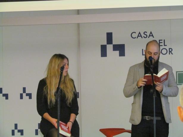 Eme Agra-Fagúndez y Alberto Guerra recitando por Ana María Moix y Miguel Labordeta