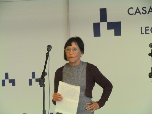 """Amelia Romero, directora de """"El Bardo"""", cerrando el acto"""