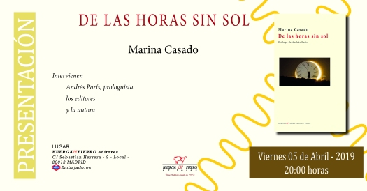 DE LAS HORAS SIN SOL-INVITACION